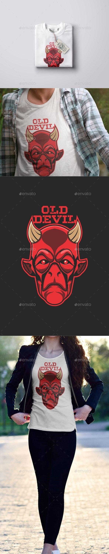 Old Devil Head T-Shirt Design - T-Shirts