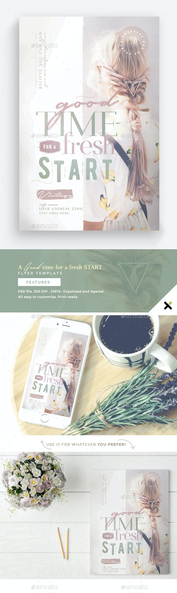 A Good Time For A Fresh Start Flyer Template - Flyers Print Templates