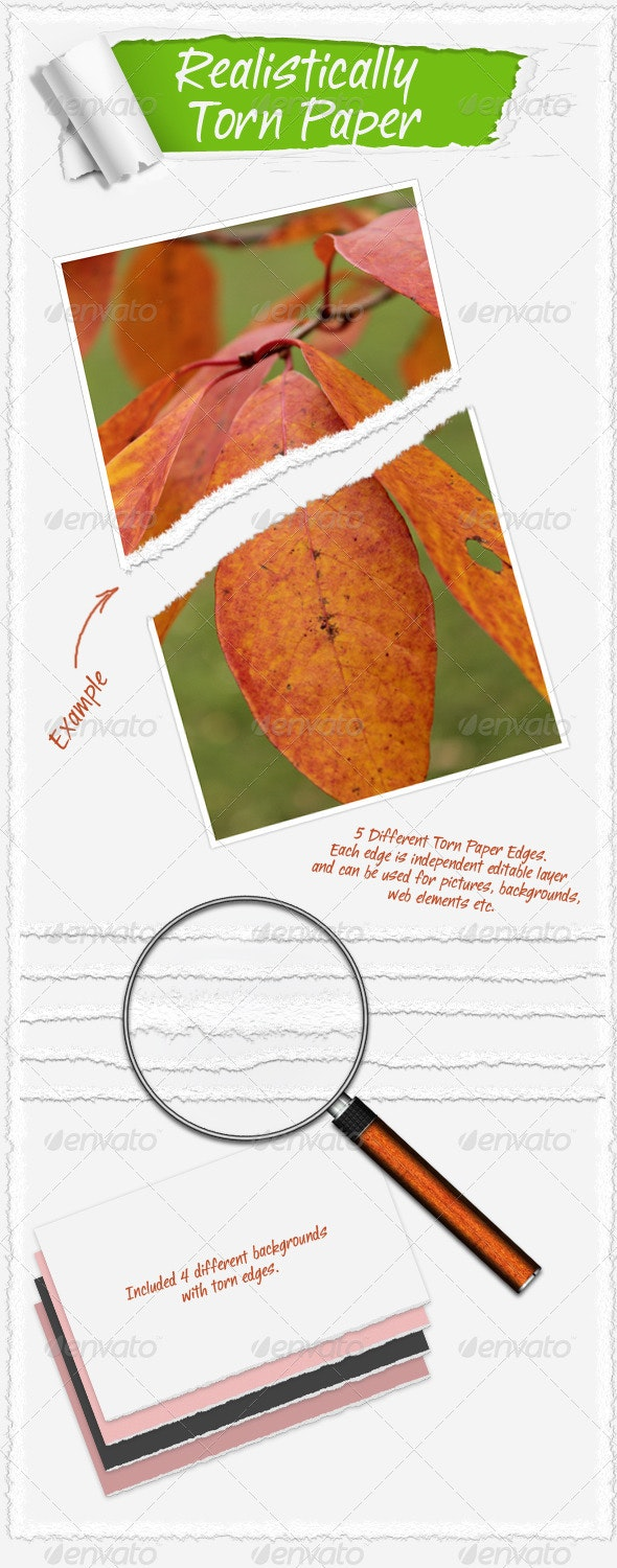 Realistically Torn Paper - Backgrounds Graphics