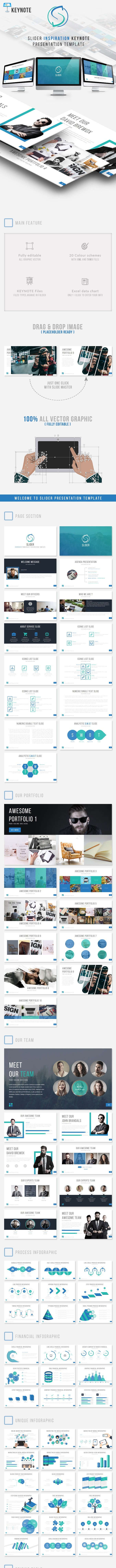 Slider Inspiration Presentation Keynote Template - Business Keynote Templates