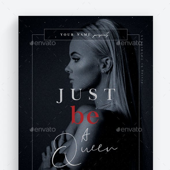 Just Be A Queen Flyer Template