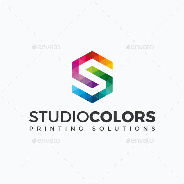 Studio Colors - Letter S Logo