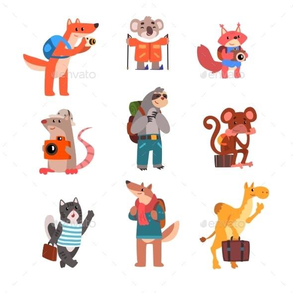 Animals Traveling Set