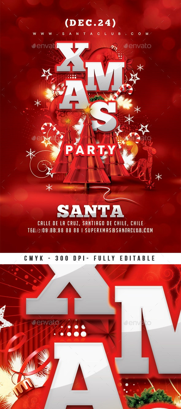 Red Xmas Flyer - Clubs & Parties Events