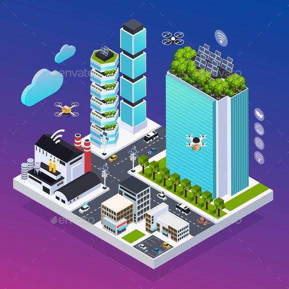 Smart City Composition - Miscellaneous Vectors