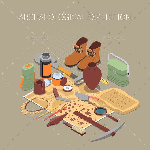 Archaeological Expedition Concept - People Characters