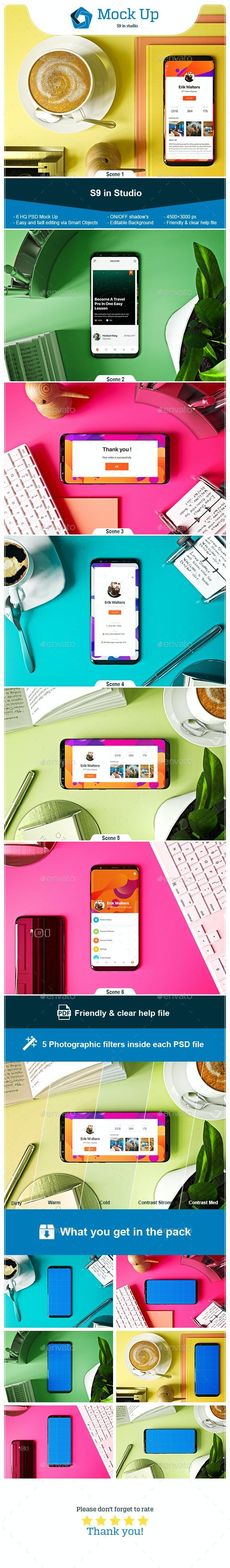 S9 in Studio Mock-up - Mobile Displays