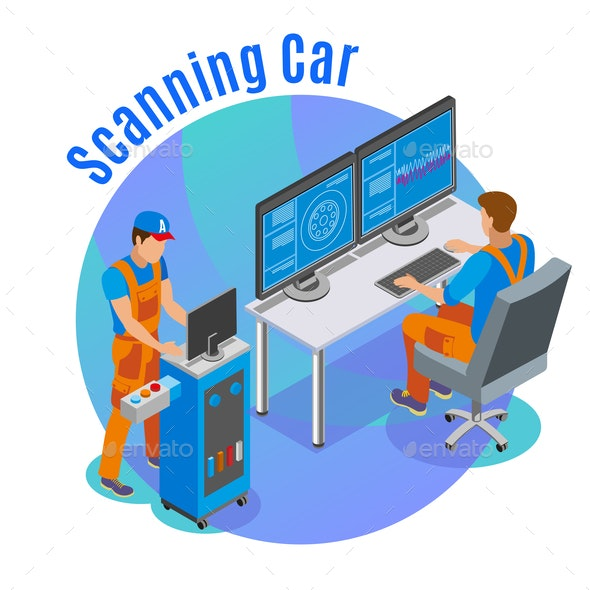 Auto Scanning Background - Computers Technology
