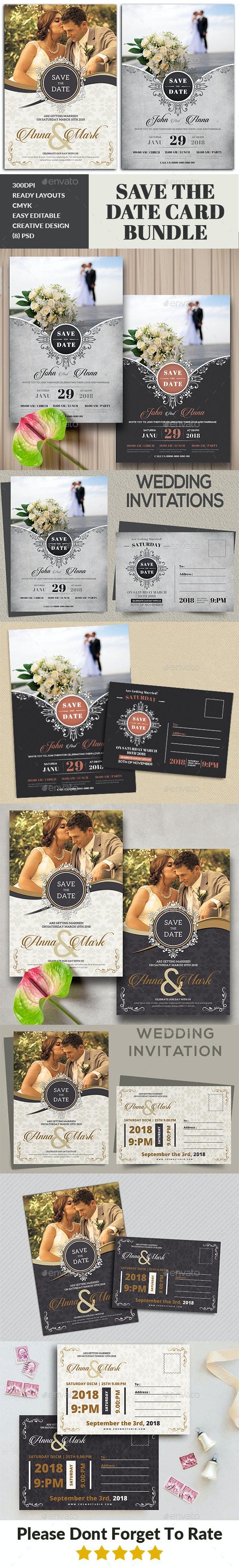 Wedding Invitation Card Bundle - Weddings Cards & Invites