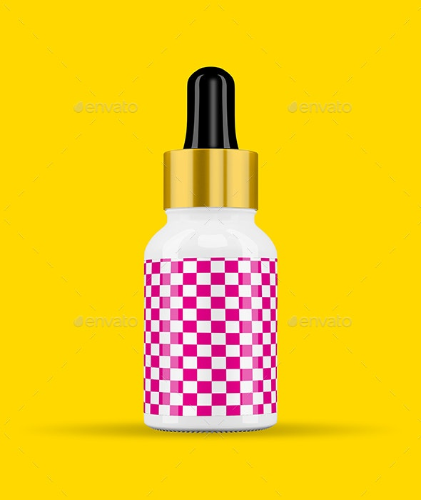 15ml Serum Glass Dropper Bottle by mosumart | GraphicRiver