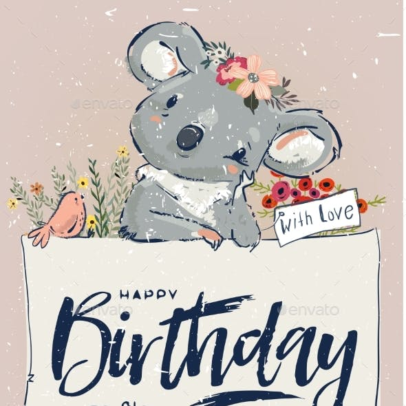 Little Birthday Koala