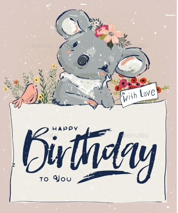 Little Birthday Koala - Animals Characters