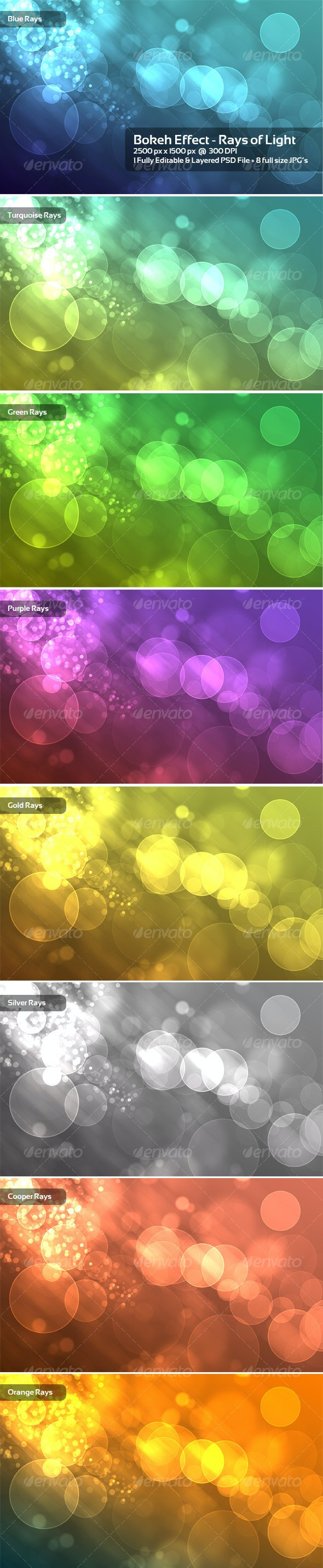 Bokeh Effect - Rays of Light - Backgrounds Graphics