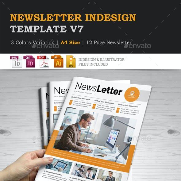 Newsletter Indesign Template v7