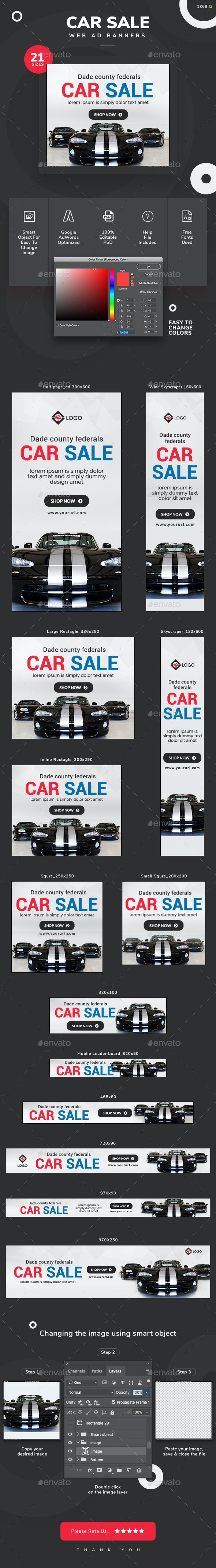 Car Sale Banners - Updated! - Banners & Ads Web Elements