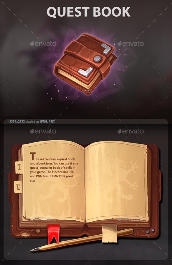 Quest Book - Miscellaneous Game Assets