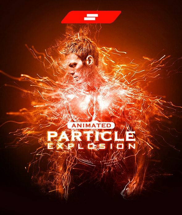 Gif Animated Particle Explosion Photoshop Action - Photo Effects Actions