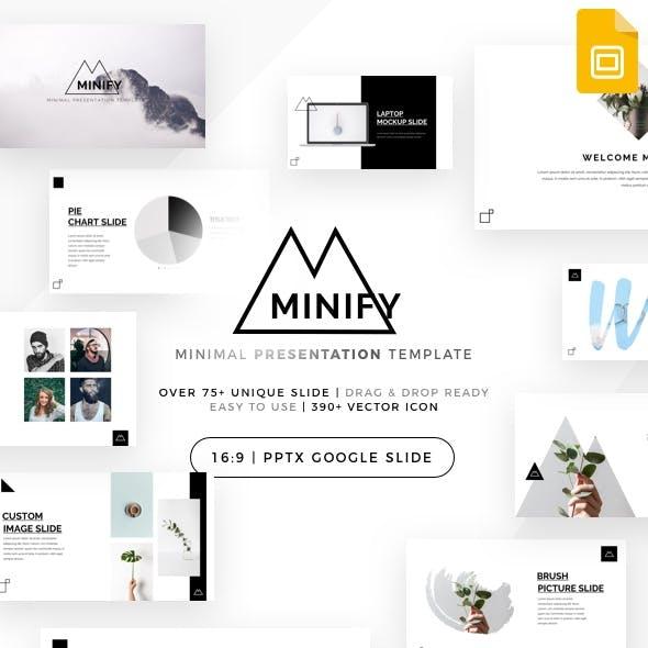 Minify - Minimal Google Slides Template