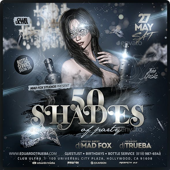 50 Shades Carnival Party Flyer