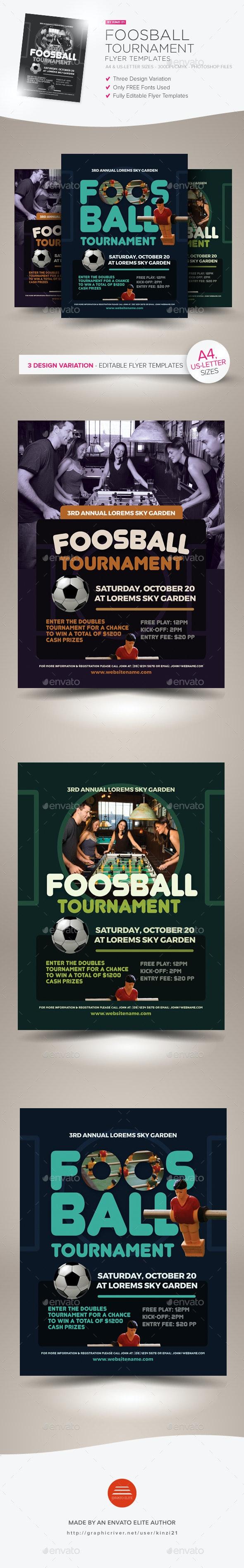 Foosball Tournament Flyer Templates - Sports Events