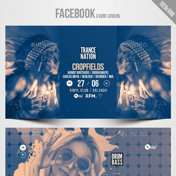 Electronic Music Party 04 - Facebook Event Cover Templates