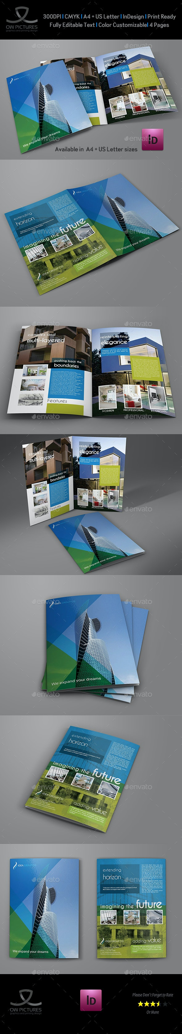 Architectural Design Bi-Fold Brochure Template Vol.2 - Brochures Print Templates