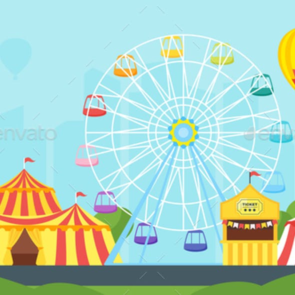 amusement park carnival for kids