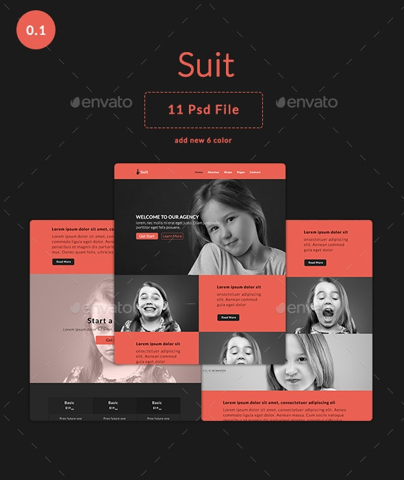 Email Newsletter - Suit - E-newsletters Web Elements