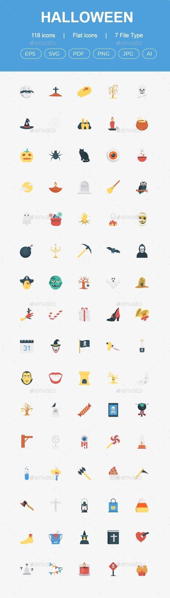 Halloween Flat icons - People Characters
