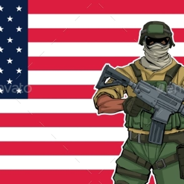 American Soldier Background
