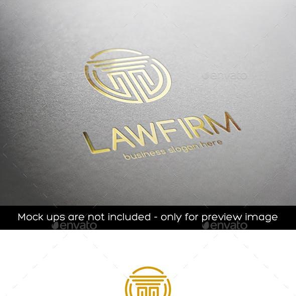Law Firm Pillar Column Vector Logo