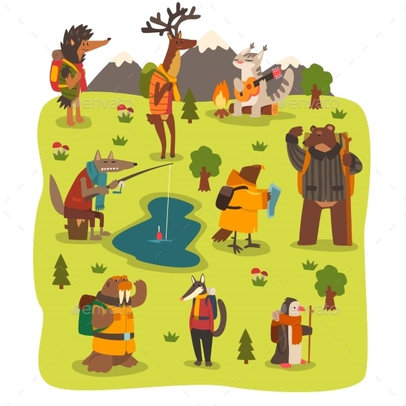 Wild Animals Travelling Set - Animals Characters