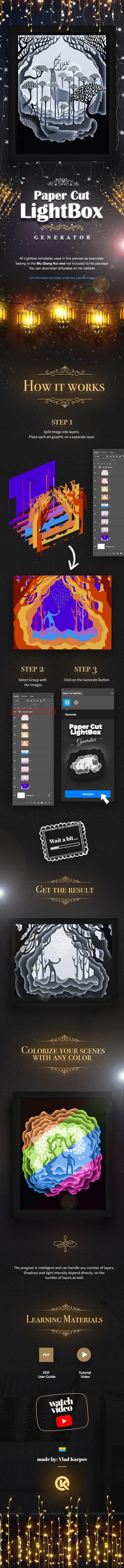 Paper Cut Light Box - Actions Photoshop
