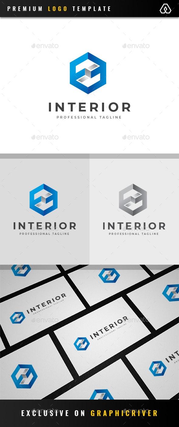 Modern Interior Hexagon Logo