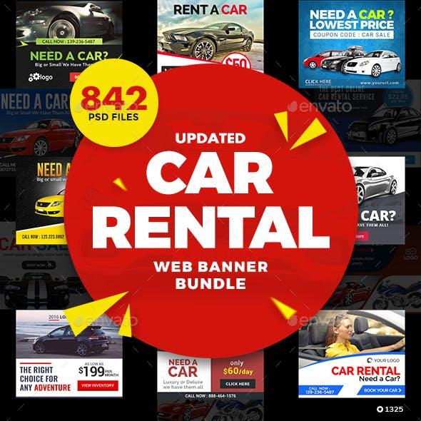 Car Dealership and Rental Web Banner Set Bundle - Over 50 Sets - 842 Banners - UPDATED!