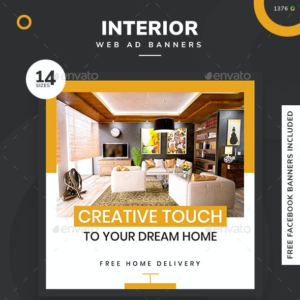 Decoration Interior Web Elements From Graphicriver