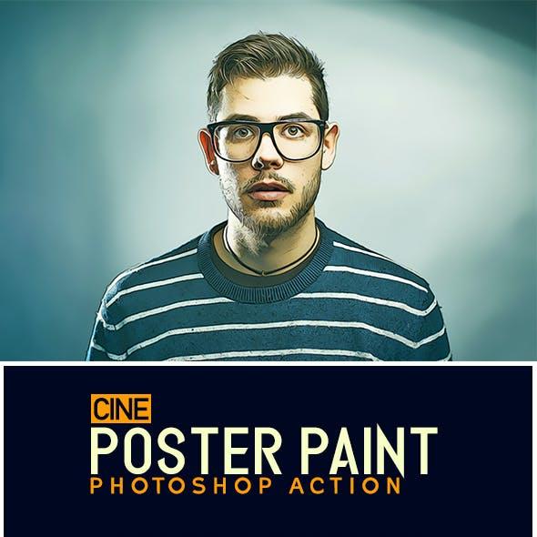 Cine Poster Paint Photoshop Action