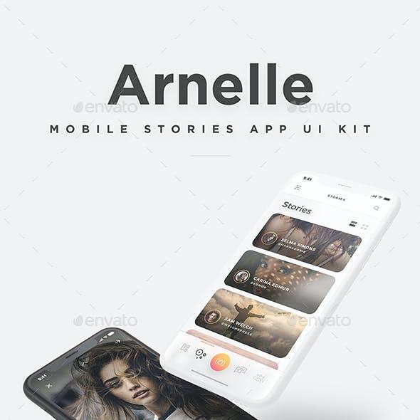 Arnelle UI Kit - Mobile Photos & Stories App UI Kit