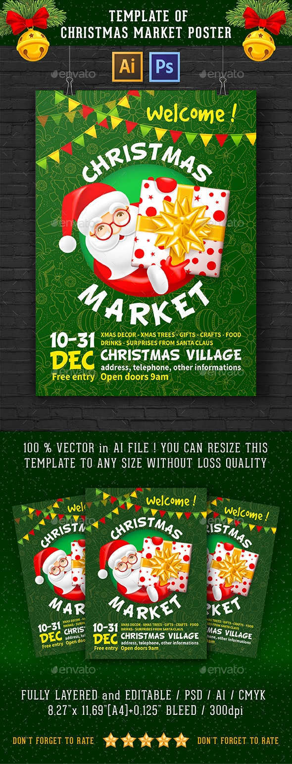 Christmas Market Poster - Holidays Events