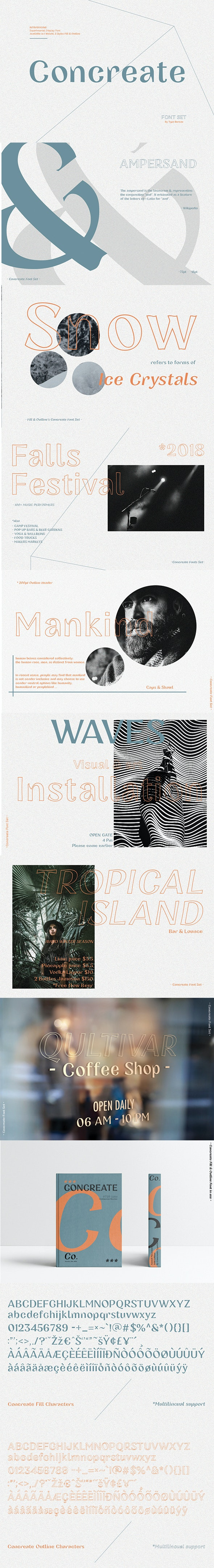 Concreate - display font - Decorative Fonts