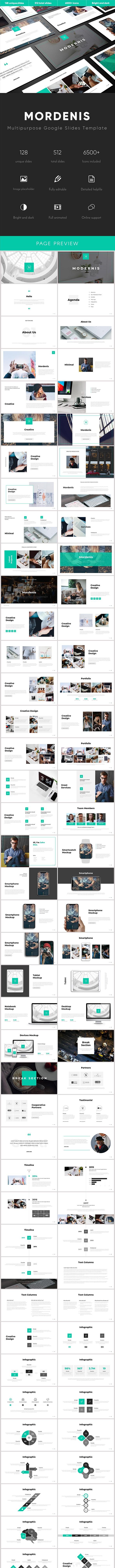 Mordenis Multipurpose Google Slides Template - Google Slides Presentation Templates