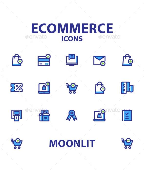 Ecommerce Moonlit - Web Icons