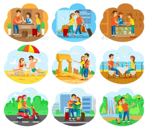 Journey Illustration Set for Travel Agency Promo - People Characters