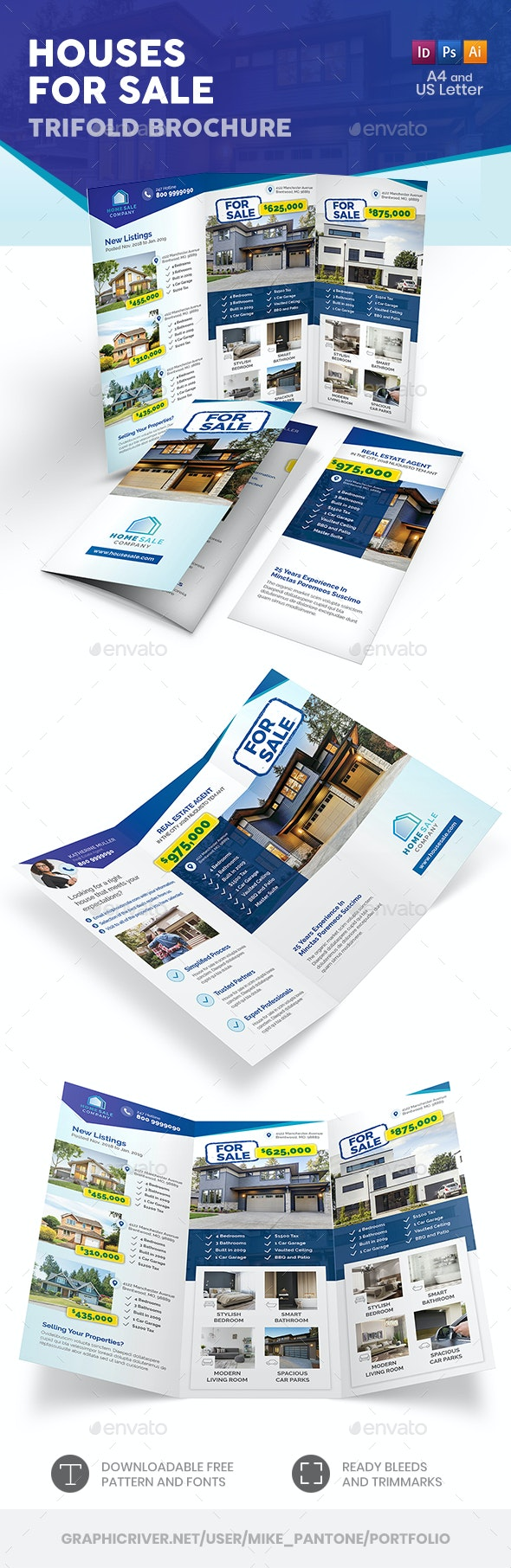 Houses For Sale Trifold Brochure - Informational Brochures