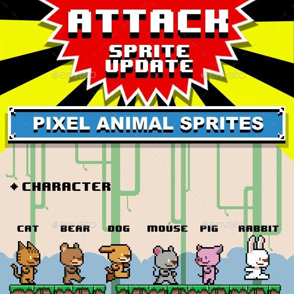 Pixel Animal Set A