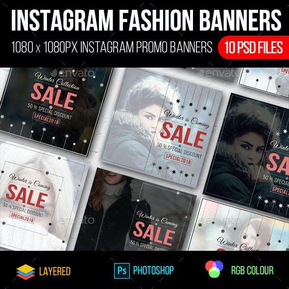 Instagram Fashion Sale Banners
