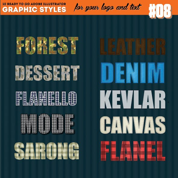 Detailed Realistic Fabric Texture Style (Cammo include)