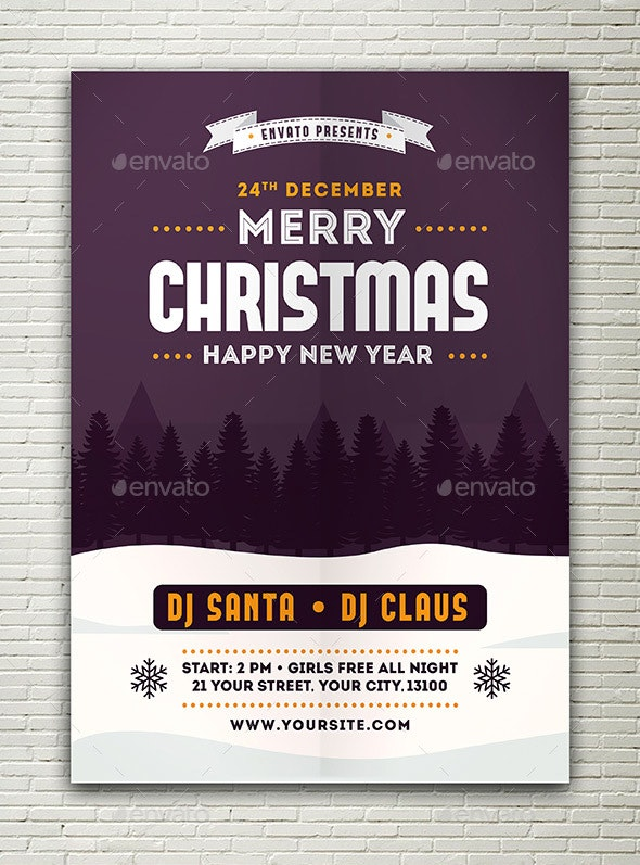Christmas New Year Flyer - Events Flyers