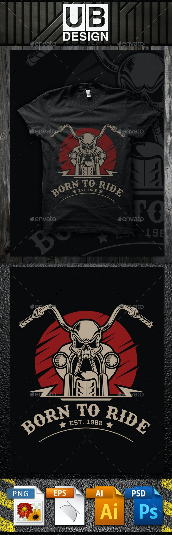 Born to Ride - Designs T-Shirts