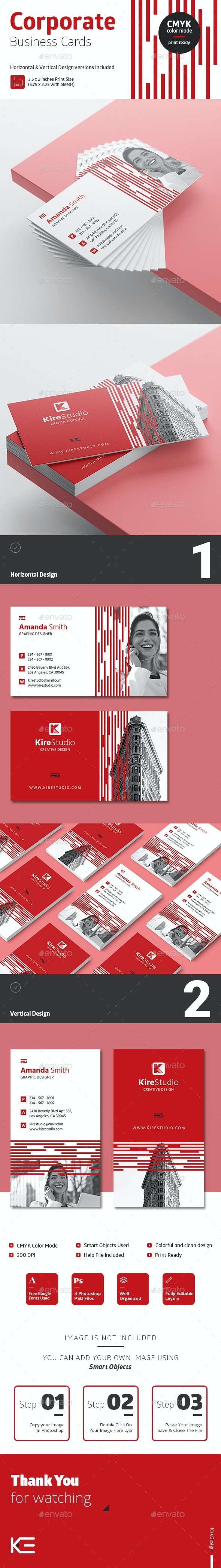 Horizontal & Vertical Corporate Business Cards #7 - Corporate Business Cards